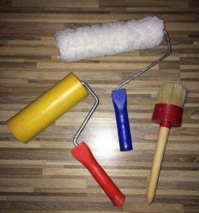 Валики и кисти для ремонта