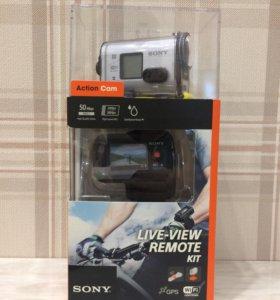 Экшен камера sony HDR-AS100VR live view remote kit