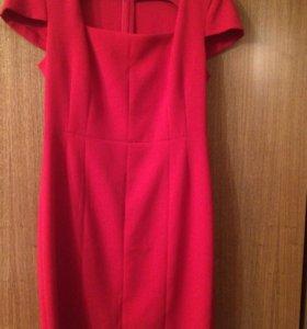 Платье красное, р.44,46-48