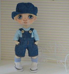 Интерьерная текстильная кукла ручной работы!