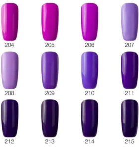 Гель-лаки фиолетового оттенка