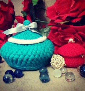 Милые подарочные корзиночки и игрушки