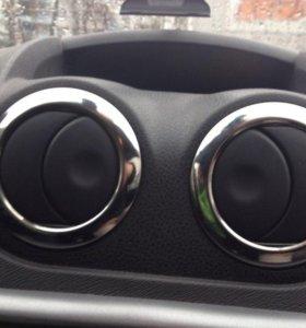 Хром. крышка на дефлекторы для Renault Duster