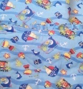 бортики для детской кроватки и простынь