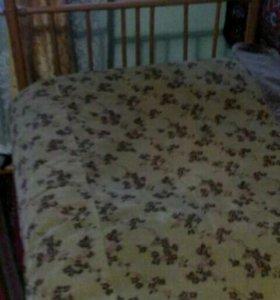 Кровать металлическая в отличном состоянии