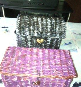 Плетёные из бумаги подарочные шкатулки