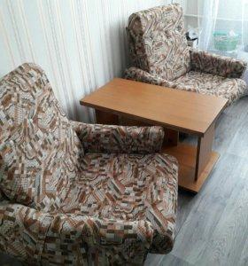 Диван+2 кресла+журнальный столик