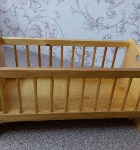 Детская кроватка игрушечная
