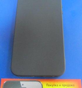 Чехол iPhone 5 / 5S силикон Buenos черный