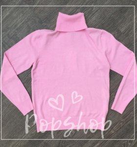 Бадлон / водолазка розовая