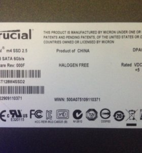Crucial 128Gb m4 SSD 2.5