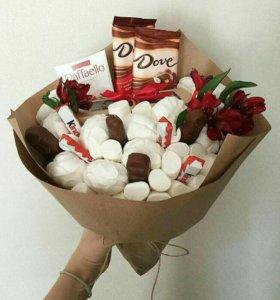 Букет с шоколадом 900р