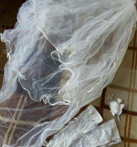Свадебное платье цвет молочный р. 42-44