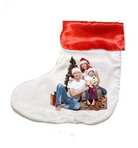 Подарок Новогодний носок со сладкими батончиками