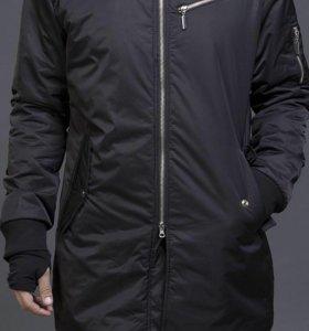 Пальто куртка, удлинённый бомбер