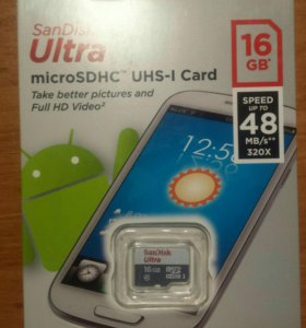 Карта памяти MicroSD SanDisk Ultra 16 GB