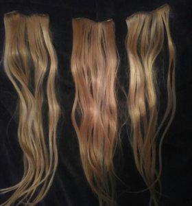 Волосы, наращивание, заколки