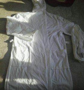 Новый хлопковый махровый халат Cleanelly