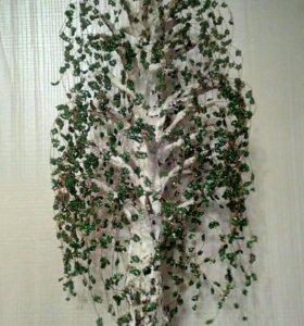 Дерево из бисера (берёза)