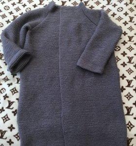 Шерстяное пальто кардиган новое