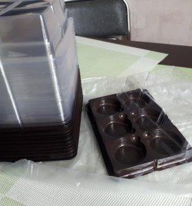 Упаковка новая для пироженных