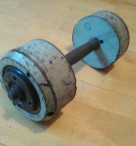 Гантеля силовая 12.2 кг