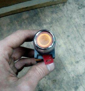 Кнопка ABLFS-22 желтая