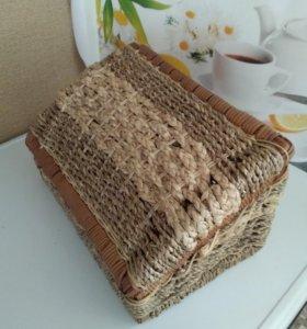 Хлебница плетёная новая