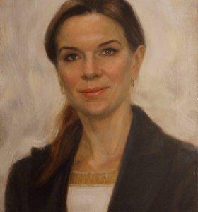 Портрет маслом на холсте с натуры и по фотографии