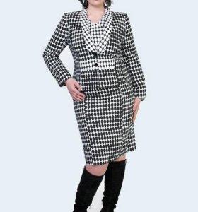 Костюм (платье и пиджак) 56 р-р.