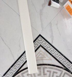 Плинтус ПВХ 86 мм белый
