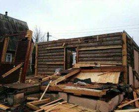 Демонтаж построек в посёлке Черноисточинске