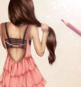 Обучение наращивание волос, Кератин, ботокс!!!!