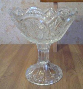 Разборная ваза из хрусталя