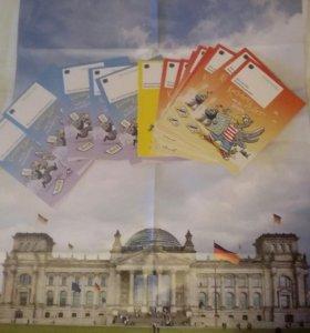 Плакаты, комиксы с немецкой символикой