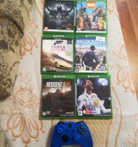 Xbox one Диски и джойстик