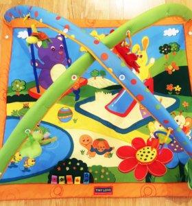 Развивающий коврик с игрушками Tiny love