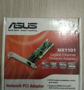 Сетевой адаптер Asud NIC card 10/100, PCI NX-1001