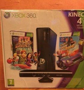 XBOX 360 c Kinect и 5 играми, 1 джостик,