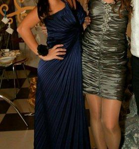 Платье синее размер М. В профиле много других ->