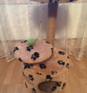 Домик когтеточка для кошки(Пушкин)