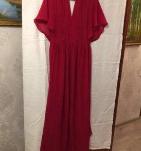 Платье вечернее бордовое