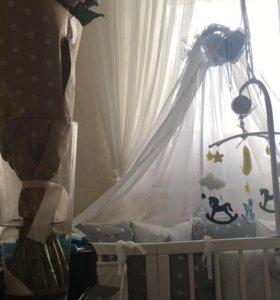 Балдахин с креплением на детскую кроватку