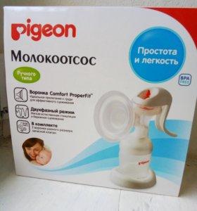 Молокоотсос Pigeon ручной + новые соски Pigeon
