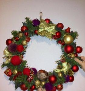 Новогодний подарок «Рождественский венок»