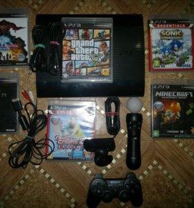 Sony PS3 500gb с GTA5 + move с камерой и 6 игр