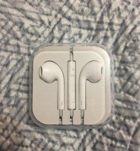 Наушники apple iPhone из комплекта