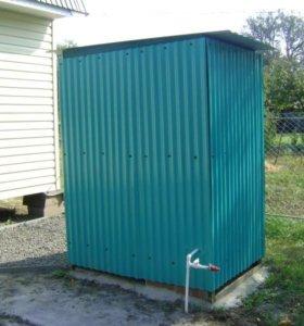 Туалеты из прочного материала.