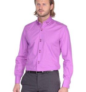 Новая мужская рубашка white cuff манжет под запонк