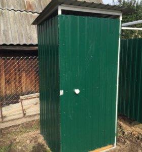 Душевые кабины и туалеты металлические